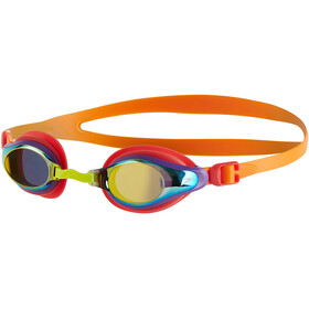 speedo Mariner Supreme Mirror Goggles Kids, jaffa/watermelon/gold